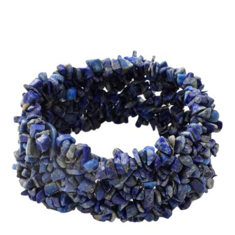 Liv Oliver Blue Lapis Stretch Bracelet