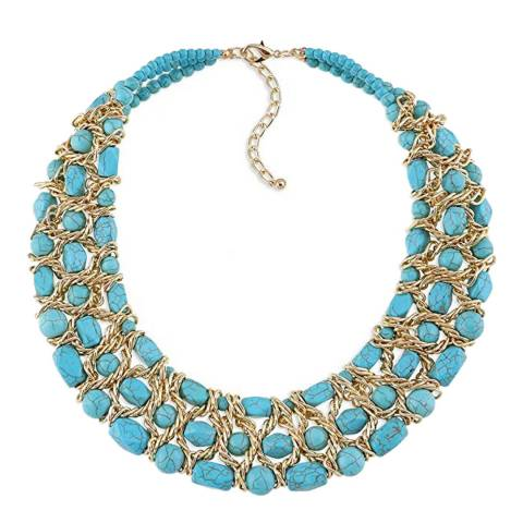 Liv Oliver Turquosie Collar Necklace