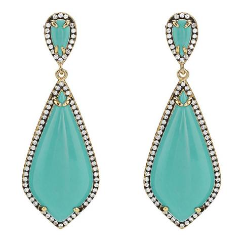 Liv Oliver Turquoise Pave Earrings