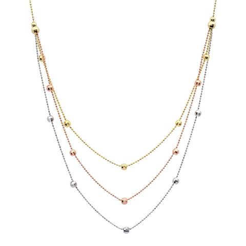 Liv Oliver Tri Colour Layer Necklace