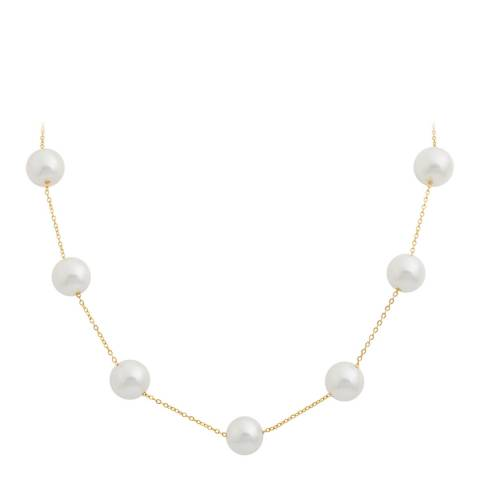 Liv Oliver 18K Gold Plated Pearl Station Necklace