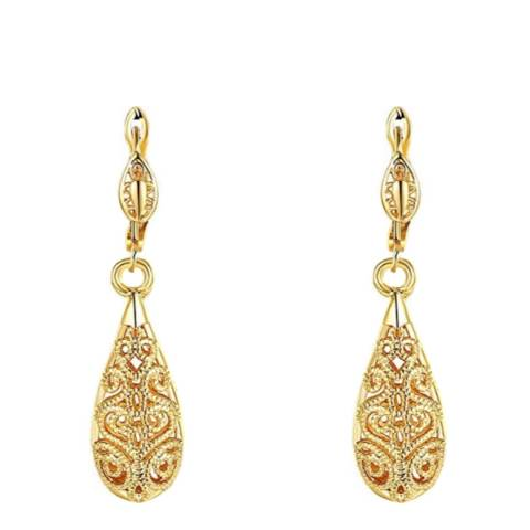 Chloe Collection by Liv Oliver 18K Gold Cut Out Tear Drop Earrings