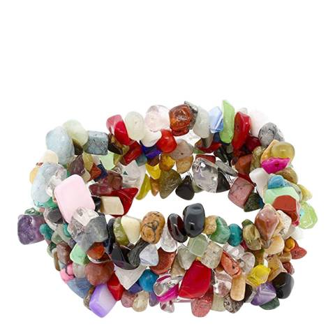 Liv Oliver Multi Gemstone Stretch Bracelet