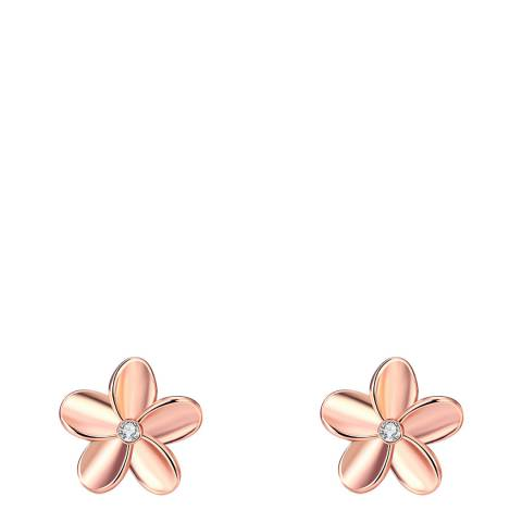Liv Oliver Rose Gold Daisy Stud Earrings