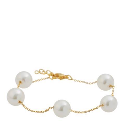 Liv Oliver Gold Pearl Station Bracelet