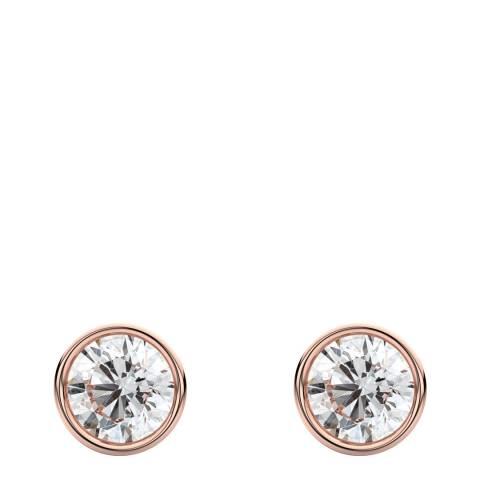 Liv Oliver Rose Gold Bezel Stud Earrings