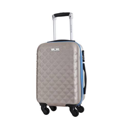 Platinium Beige 4 Wheel Francisca Suitcase 60cm