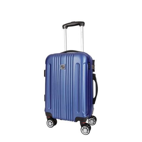 Platinium Blue 8 Wheel Stafford Suitcase 46cm
