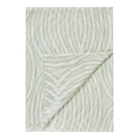 Pure Collection Khaki Batik Print Modal Silk Scarf
