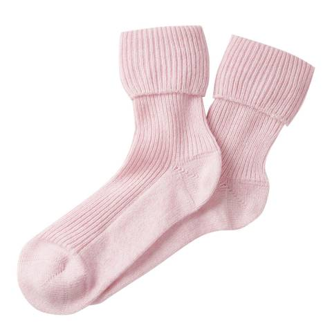 Pure Collection Rose Mist Cashmere Bed Socks