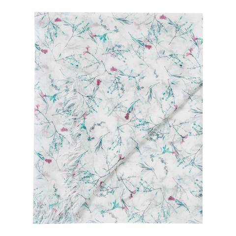 Pure Collection Bloom Floral Print Ultra Soft Printed Scarf
