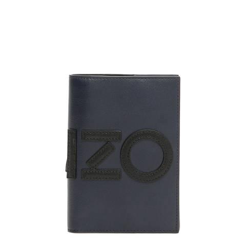 Kenzo Navy Blue Logo Card/Document Holder