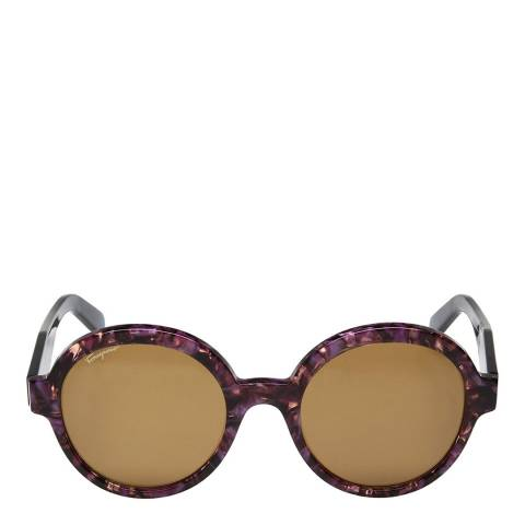 Ferragamo Women's Purple Brown Salvatore Ferragamo Sunglasses 55mm