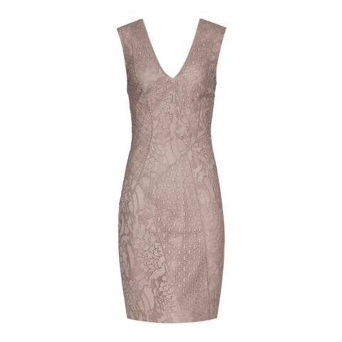 Reiss Ash Romy Lace Panelled Dress