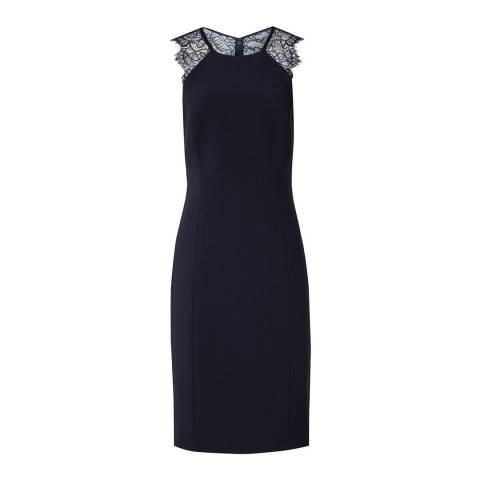 Reiss Night Navy Saturn Fitted Dress