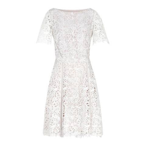 Reiss Off White Eleania Lace Dress