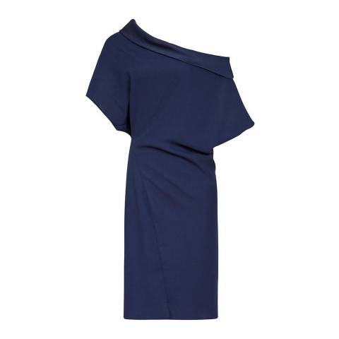Reiss Indigo Camila Batwing Dress