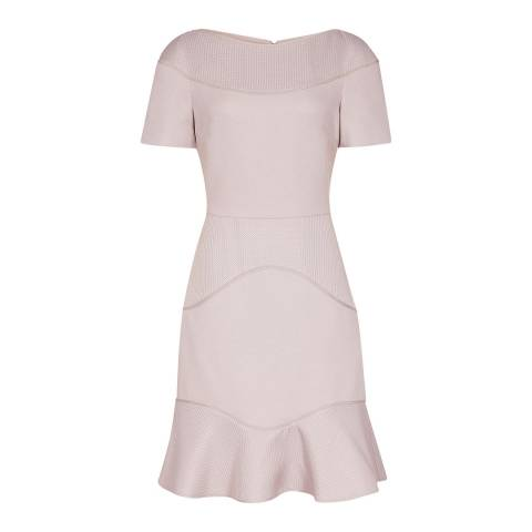 Reiss Ash Hazel Mixed Texture Dress