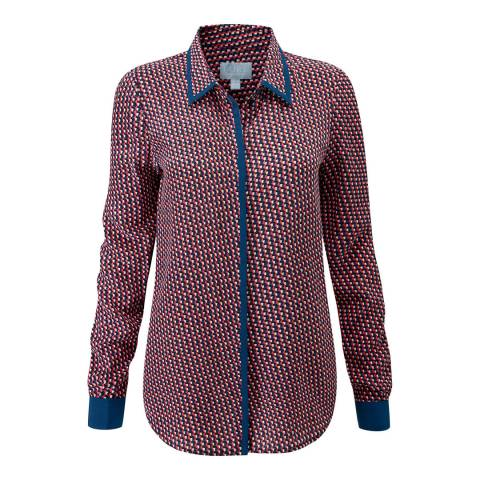 Pure Collection Multi Relaxed Washed Silk Blouse