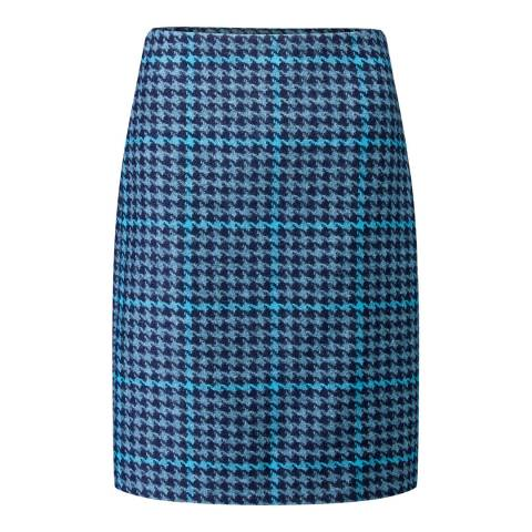 Pure Collection Multi A Line Wool Skirt