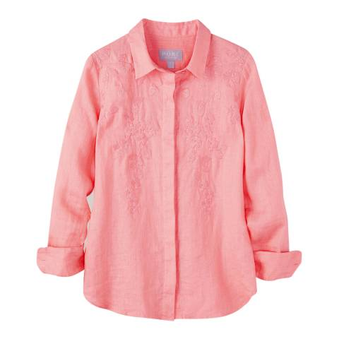 Pure Collection Shell Coral Embroidered Linen Shirt
