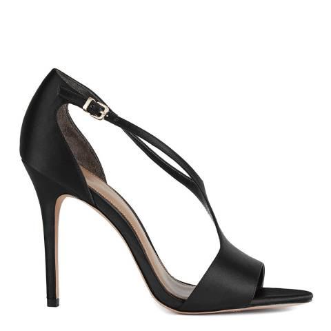 Reiss Black Maxine Satin Stiletto Heels