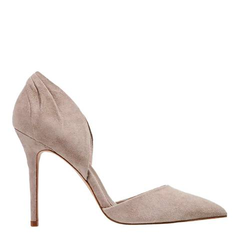 Reiss Clay Suede Aurelia Pleated Heel Court