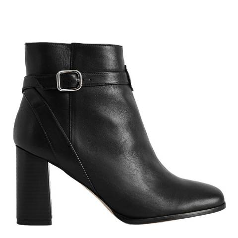 Reiss Black Fulham Leather Ankle Boots