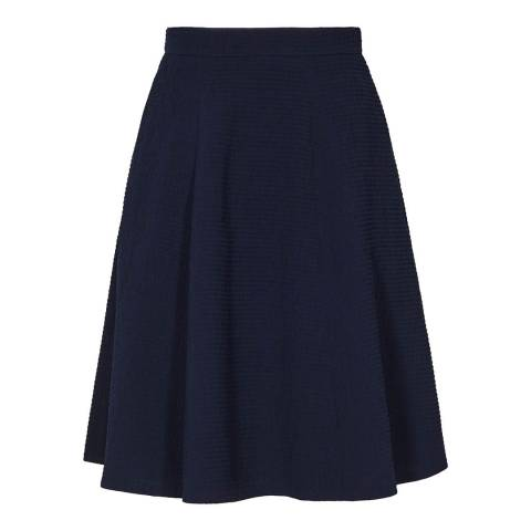 Reiss Night Navy Hannah Textured Skirt