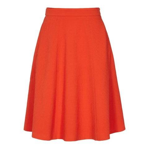 Reiss Orange Hannah Textured Skirt