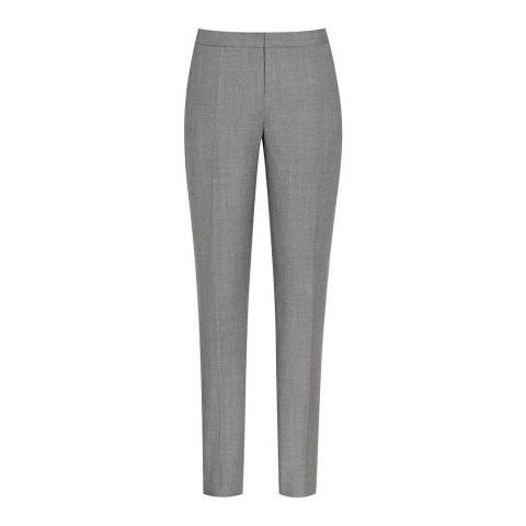 Reiss Grey Austin Wide Leg Wool Trousers