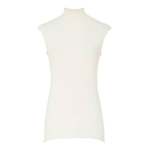Reiss Off White Purdy Fine Knit Top