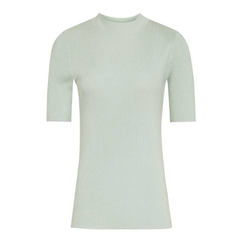Reiss Green Angelina Ribbed Top