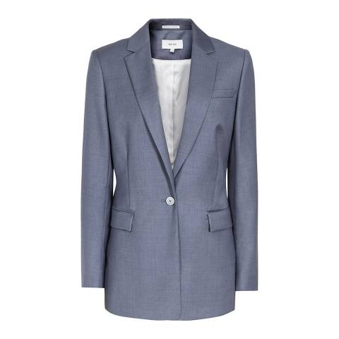 Reiss Blue Leyton Tailored Wool Jacket