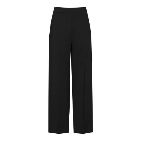 Reiss Black Flynn Cropped Trousers