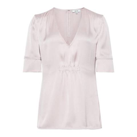 Reiss Porcelain Petunia Pleat Top