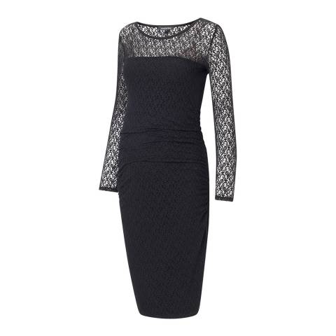 Isabella Oliver Black Lace Evy Lace Maternity Dress