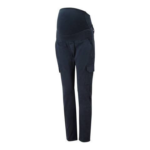 Isabella Oliver Navy Stretch Maternity Cargo Pants