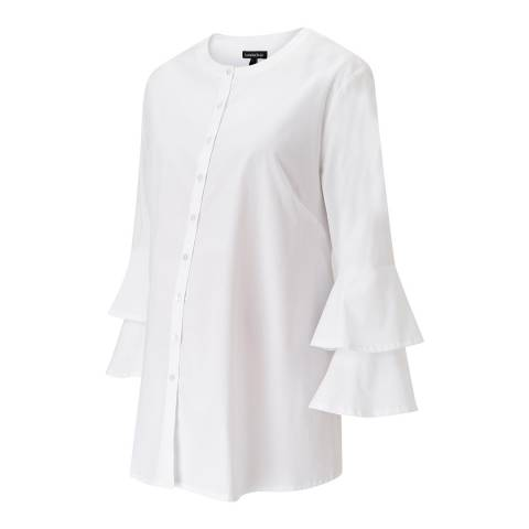 Isabella Oliver Pure White Rochelle Maternity Shirt