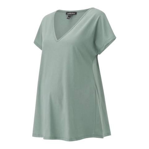 Isabella Oliver Dusted Khaki Marcia Maternity Cotton Top