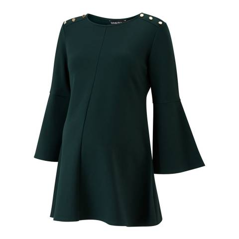 Isabella Oliver Green Paige Maternity Button Top