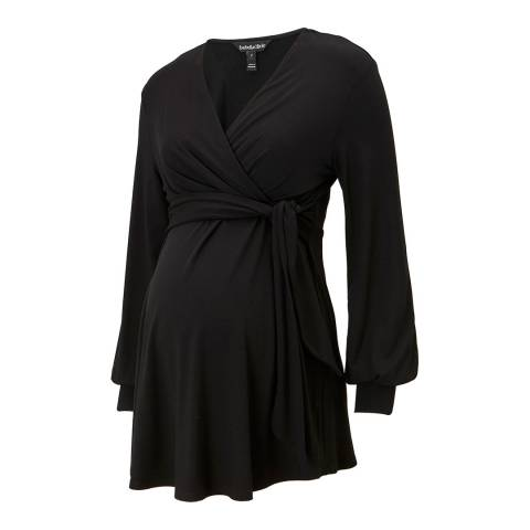 Isabella Oliver Black Tarian V Neck Top
