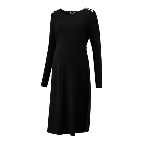 Isabella Oliver Black Paige Maternity Button Dress