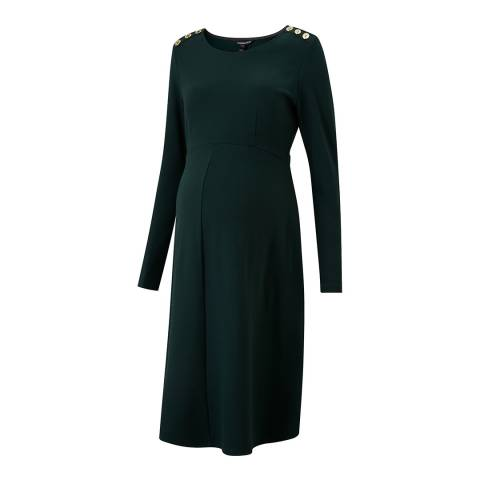 Isabella Oliver Green Paige Maternity Button Dress