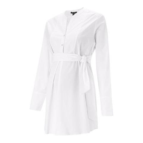 Isabella Oliver Pure White Granville Maternity Shirt