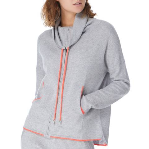 Cocoa Cashmere Grey/Chilli Cashmere Zip Up Hoody