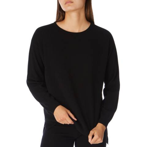Cocoa Cashmere Black Long Sleeve Cashmere Jumper