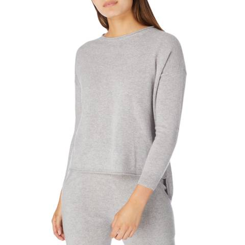 Cocoa Cashmere Grey Hot Fix Star Cashmere Jumper
