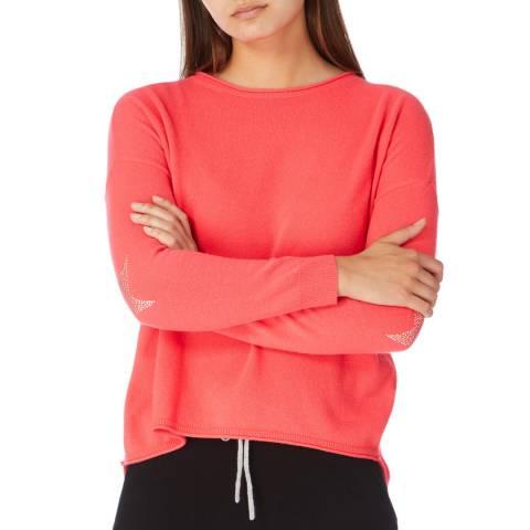 Cocoa Cashmere Fluro Pink Hot Fix Star Cashmere Jumper