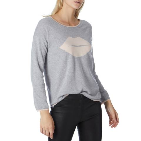 Cocoa Cashmere Grey/ Cologne Lip Entarsia Jumper